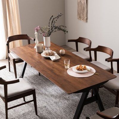 잉글랜더 크레타 고무나무 원목 6인용 식탁 의자제외_(12665003)