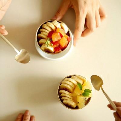 놋담 유기 하트 아이스크림 스푼 2P