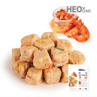 한입 닭가슴살 큐브 새우살사 100g[신제품] 1+1