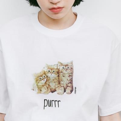LITTLE CATS T-SHIRT WHITE
