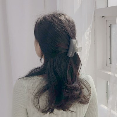 [헤어 집게핀] 스퀘어클립