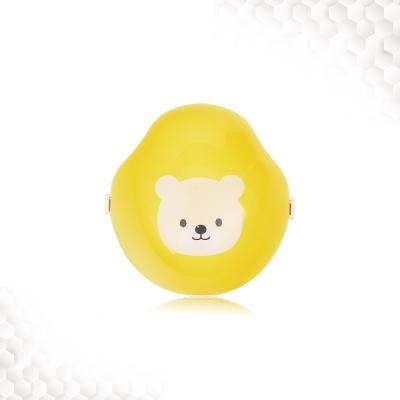 [미듀] 아기곰애키 공기청정 스마트 마스크 KF94 필터 옐로우