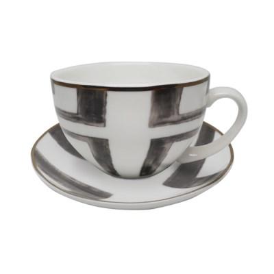 앳하스홈 피카 블랙퍼스트 컵 & 소서 0.25L