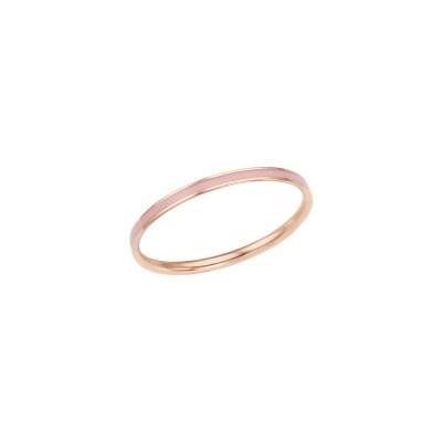 로이드 심플 핑크 에폭시 14K Gold 반지 LRS2032PG
