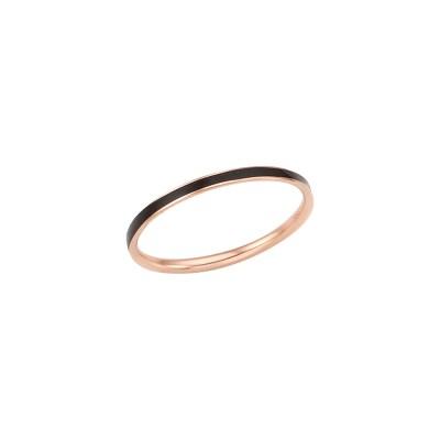 로이드 심플 블랙 에폭시 14K Gold 반지 LRS2032BG
