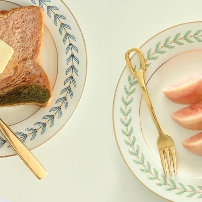 골드라인 나뭇잎 접시 / 예쁜 그릇