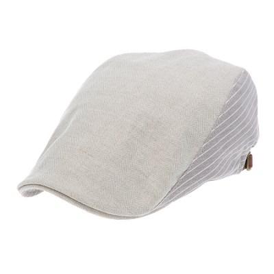 [플릭앤플록]IMH55.스트라이프 배색 헌팅캡 남성 모자