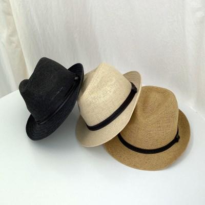 여름 밀짚 페도라 모자