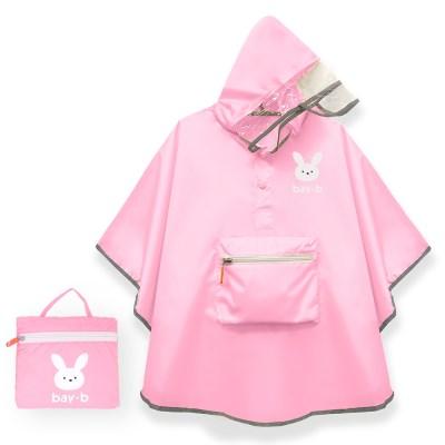 [BAY-B] 아동 판초 우비 핑크