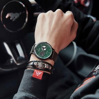 [쥴리어스 옴므] JAH-117 남성시계 손목시계 메쉬밴드