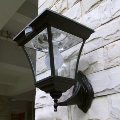 LED 태양광 벽등 CB-W271 모션센서내장 포스트 벽부등_(1868596)