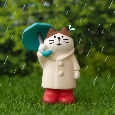 데꼴 가드닝 우산고양이 피규어