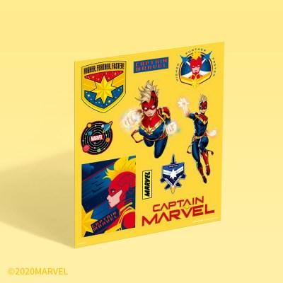 [마블] 빅 포인트 스티커 - 캡틴 마블