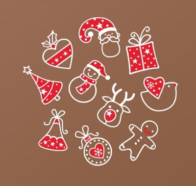 (그래픽스티커)크리스마스 아이콘즈