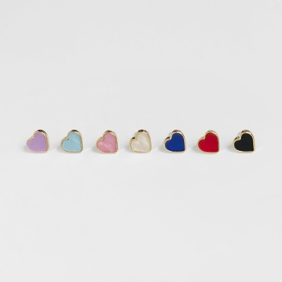 daily heart earrings (7colors)