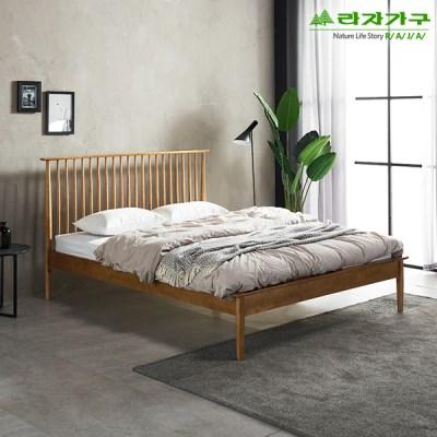 라자가구 오브 헤베아 원목 독립스프링 Q 침대 FC8823