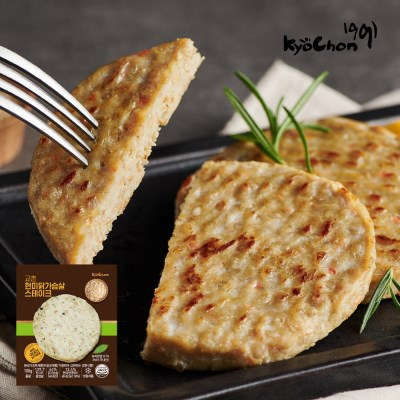 [교촌] 닭가슴살 곡물 스테이크(현미) 100g 1+1