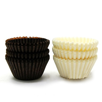 [코지아트]초콜릿 유산지컵 (블랙&화이트/28mm)(no.4092)