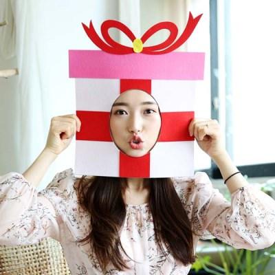 펀펀 포토프레임 생일 가면 - 선물상자
