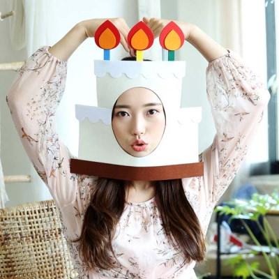 펀펀 포토프레임 생일 가면 - 케이크