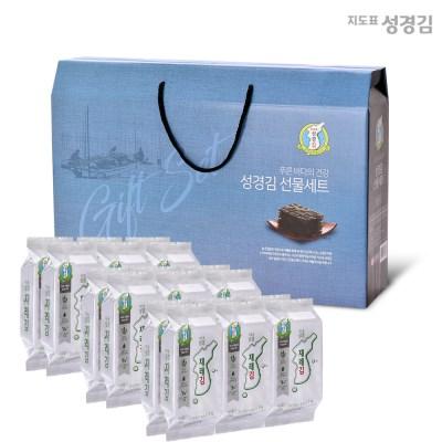 본사운영 지도표성경김 재래식탁김(4gx6봉)x3개 선물세트(정성D)