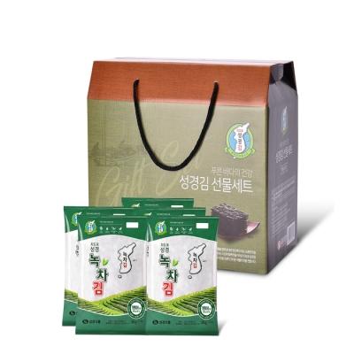 본사운영 지도표성경김 녹차전장김 30g x 5봉 선물세트(행복F)