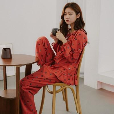 [SALE] 알콩단잠 여성잠옷 쥬드 순면 긴팔 파자마 홈웨어 세트