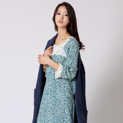 [SALE] 알콩단잠 여성 원피스잠옷 플로스 레이온 7부소매 실내복 홈
