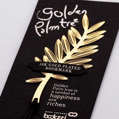 황금종려나무 - 반짝반짝 18k금도금 북마크