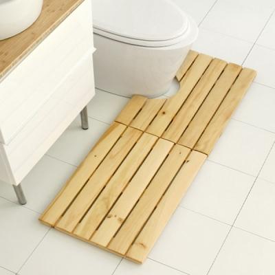 (아이홈) 미송원목발판세트(욕실+현관)