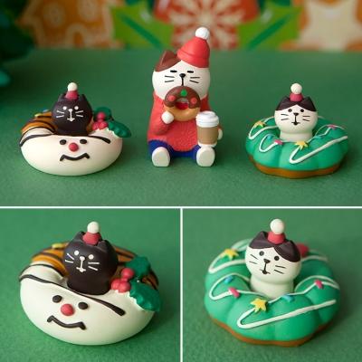 데꼴 2020 크리스마스 도넛고양이 피규어