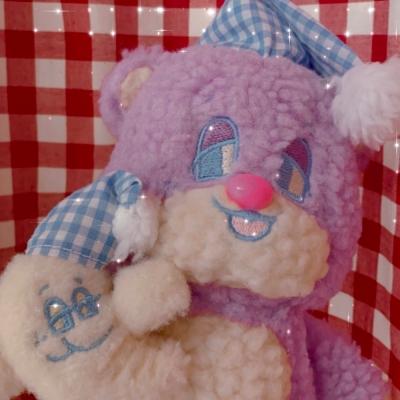 SLEEPY WORLD Small Bubble Teddy Plush