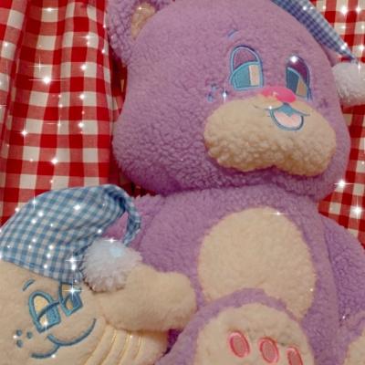 SLEEPY WORLD Large Bubble Teddy Plush