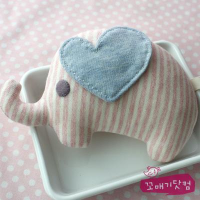 [DIY]핑크 줄무늬 엘리 삑삑이 만들기 패키지