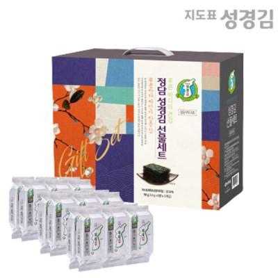본사운영 지도표성경김 재래식탁김(4gx8봉)x3개 선물세트(정담) 설