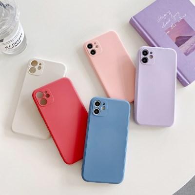 아이폰12 미니 프로 맥스 카메라보호 사각 실리콘 케이스