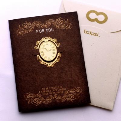 엔틱 시계 - 책갈피 카드
