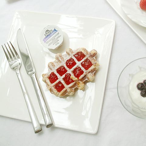 케이크 접시 - 정사각 소