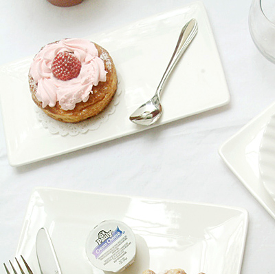 케이크 접시 - 직사각 중
