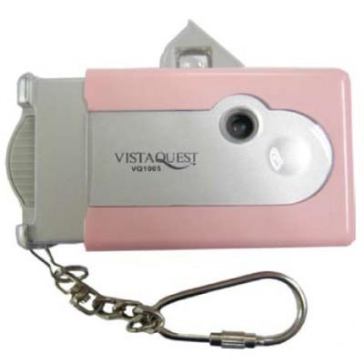 비스타퀘스트 디지털 토이카메라 VQ1005 핑크 (SD메모리사용)