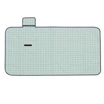 모던체크 방수돗자리(150x80cm) (민트+화이트)