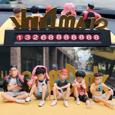 슬램덩크 자동차 주차번호판 일상복 피규어 세트 매트 포함