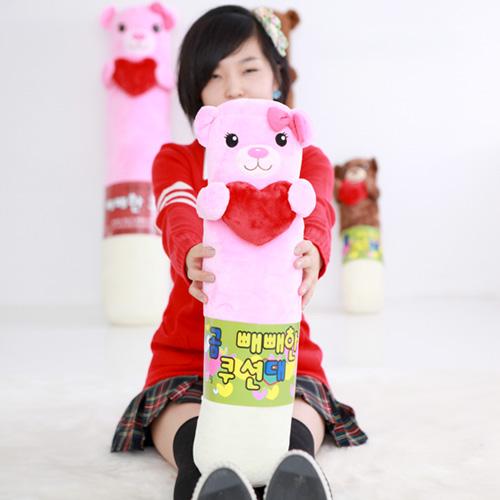 빼빼로데이용 하트 곰 쿠션(대)_핑크58cm