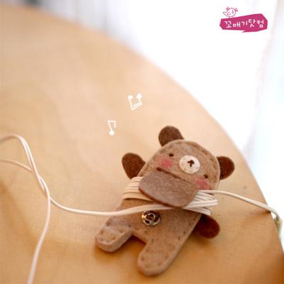 [DIY]돌돌돌 베이지곰 만들기 패키지:이어폰 줄감개