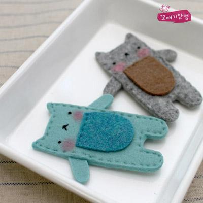 [DIY]돌돌돌 고양이친구들 만들기 패키지:이어폰 줄감개-컬러선택