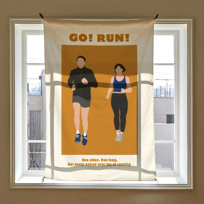 일러스트 패브릭 포스터 / 가리개 커튼_running 02