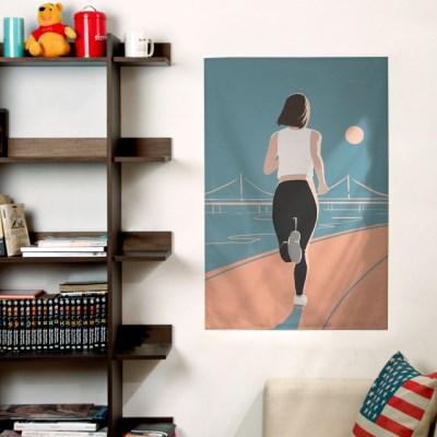 일러스트 패브릭 포스터 / 가리개 커튼_running 01