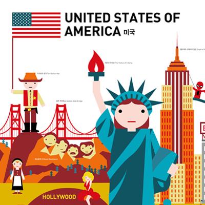 GO! GLOBAL 포스터 시리즈 '미국'