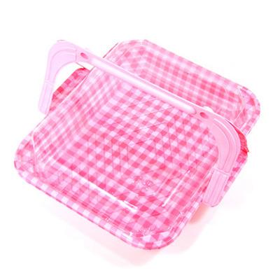 피크닉도시락-분홍샐러드케이스