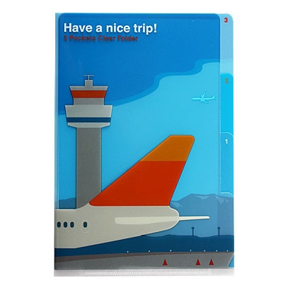 3 Pocket Clear Folder A5 - Airplane
